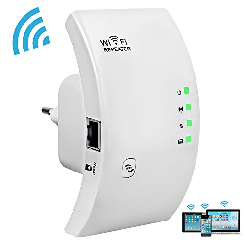 FASD Signal Booster WiFi Extender - Wireless-Repeater bis zu 300 Mbps - Wi-Fi Remote Signal Booster Access Point und Ethernet-Anschluss WiFi Range Amplifier