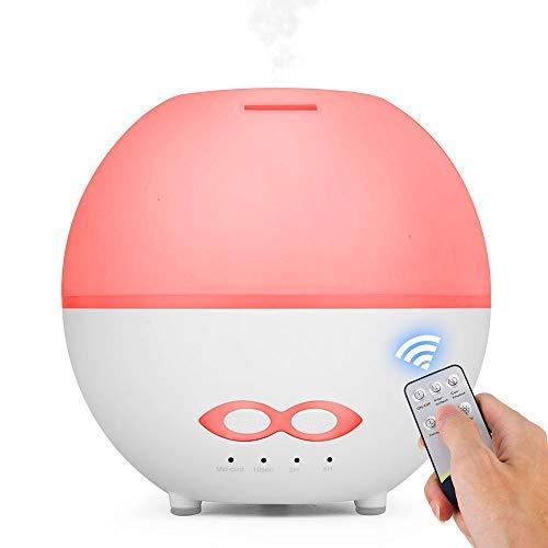 Caxmtu Aroma Diffuser 400ml Nebel Luftbefeuchter mit 7 Farben Stimmungslichter Duftlampe Ätherische Öle Diffusor für Schlafzimmer, Baby, Raum, Büro, Yoga, Spa