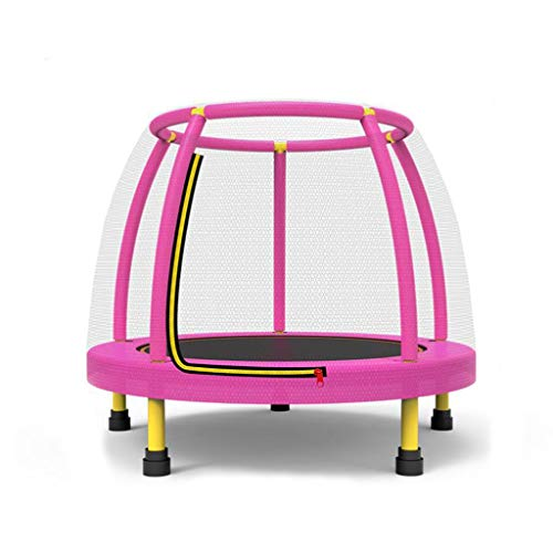 M-YN 4FT 48' Kids Trampoline Complete Set with Safety Net and Skirt Child Indoor Outdoor Activity (Color : Pink)
