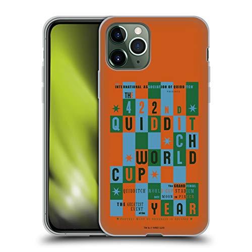 Head Case Designs Oficial Harry Potter Quidditch World Cup Poster 2 Goblet of Fire III Carcasa de Gel de Silicona Compatible con Apple iPhone 11 Pro