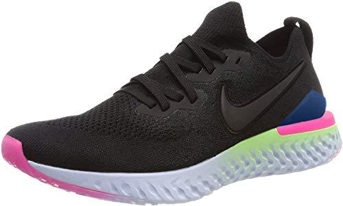 Nike Epic React Flyknit 2 Scarpe da corsa da uomo, Nero (Nero zaffiro nero), 45 EU