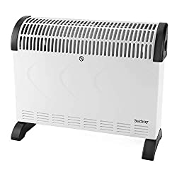 This Beldray free standing heater has adjustable thermostat control, so you can transform the temperature of a room in minutes. Very simple to use and control, the heater has 3 settings, 750 W, 1250 W and 2000 W so you can select the perfect one inst...