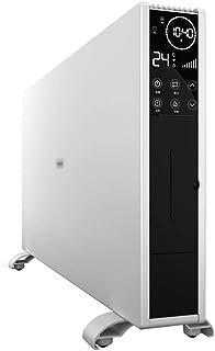DIOE Calentador Vertical Plano, función de humidificación Larga de 8 Horas, conversión de frecuencia Inteligente, Ahorro de energía, Blanco