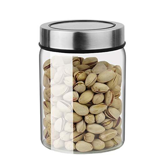 Glas Storage jar hittebestendig glas opslagtank afgesloten fles thuis citroen honing snacks korrels gedroogd fruit noodle pot (Size : 600ml)