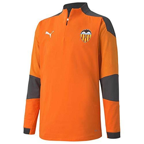 PUMA Valencia CF Temporada 2020/21-Training 1/4 Zip Top Jr Vibrant Oran Chaqueta, Niño, Naranja, 152