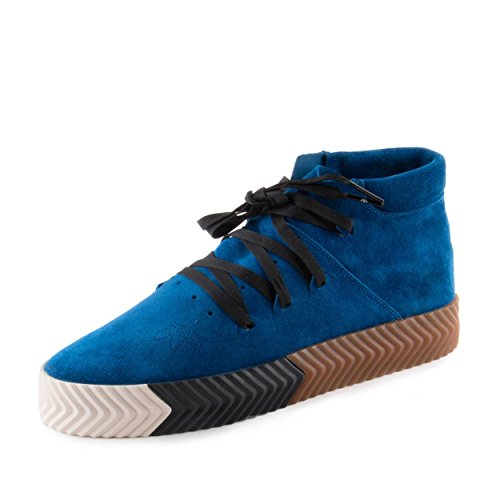 adidas Mens Aw Skate Mid Lace Up Sneakers Shoes Casual - Blue - Size 10.5 D