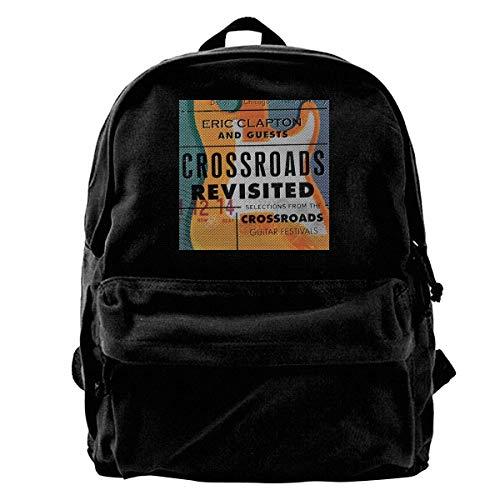 shenguang Eric Clapton Crossroads Revisited College School Wochenend-Büchertasche Robuster wasserfester Outdoor-Rucksack, Reise-Laptop-Rucksack