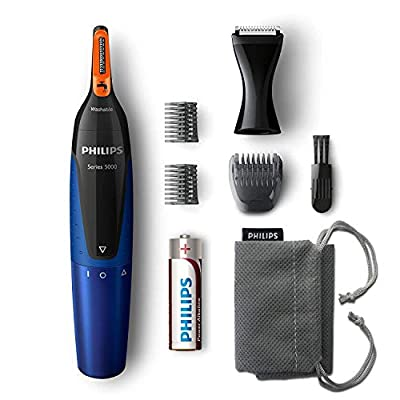 Philips Series 5000 Nose and Ear Hair Trimmer (Dual Cut Trimmer), NT5175/16, 170 Watt from Philips
