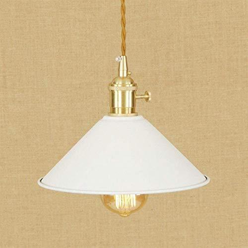 Chandelier Nordic Loft lámpara colgante colorida moderna ajuste cordón E27 LED luces colgantes vintage con interruptor para sala de estar dormitorio moderno (color del cuerpo: blanco)