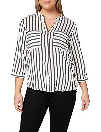Vero Moda Vmerika, Blusa para Mujer, Multicolor (Snow White Stripes:Black), M