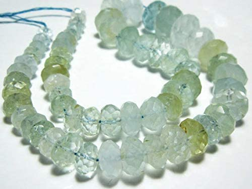 GemAbyss Beads excellence Gemstone 257 Large Faceted Limited time for free shipping Carat-AA-Aquamarine Ro