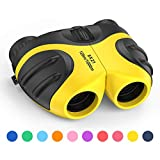 3-12 Year Old Girl Gifts, DMbaby Compact Waterproof Binoculars for Kids Outdoors Toys