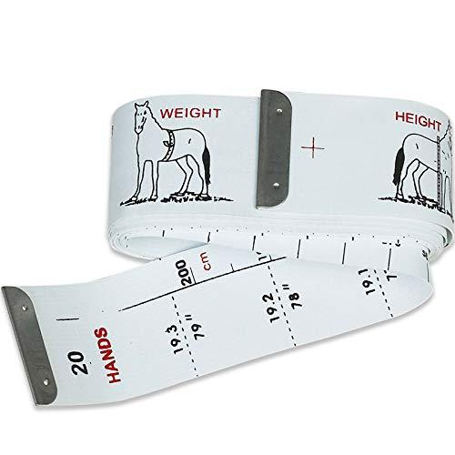 Maßband zum einfachen Messen von Größe und Gewicht für Pferde