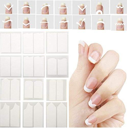 CINEEN Nagel-Aufkleber Nagelsticker Nail Art Plates Nagel Sticker Tattoo Nageldesign French Nail Stickers