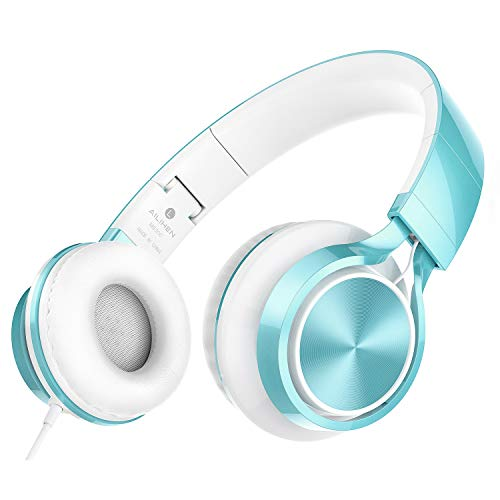 AILIHEN MS300 Kabelgebundene Kopfhörer, Stereo, faltbar, Headset für iOS, Android, Smartphone, Laptop, Tablet, PC, Computer, Limettengrün