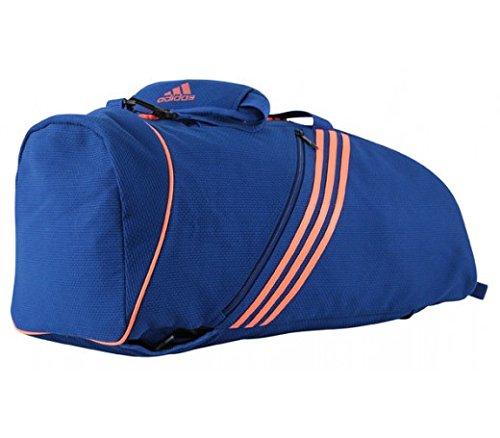 Adidas Judogi 2en 1Bolsa de Deporte/Selección de Colores/Tamaño Selección, Azul/Naranja