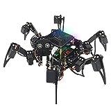 Freenove Raspberry Pi 4 B 3 B + B A +用のBig Hexapod Robot Kit、 ウォーキング、セルフバランシング、ライブビデオ、顔認識、パンチルト、超音波レンジング、カメラサーボワイヤレスRC