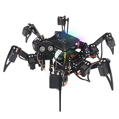 Freenove Big Hexapod Robot Kit for Raspberry Pi 4 B 3 B+ B A+, Walking, Self Balancing, Live Video, Face Recognition, Pan Tilt, Ultrasonic Ranging, Camera Servo Wireless RC