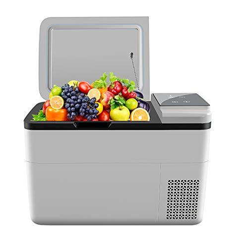 iKOMKON 32 Quart Car Refrigerator 12V DC 28 Liters Portable Freezer Fridge for RV, Van, Boat, Car, Truck, Outdoor, Home Use, No Noise and Energy Saving Portable Freezer, White
