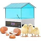 CARLAMPCR Mini Inkubator Brutmaschine Automatik Motorbrüter Brutgerät Brutapparat Motorbrüter Brüter Flächenbrüter für 4 Eier