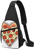 Nigel Tomm Sling Bag I Love Pizza Heart Imprimé Sac À Dos À Bandoulière Sac À Bandoulière Voyage Randonnée Poitrine Sac Sac À Dos
