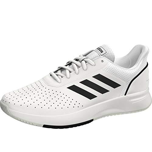 Adidas Herren Courtsmash Tennisschuhe Weiß (Ftwbla/Negbás/Gridos 000) , 44 2/3 EU