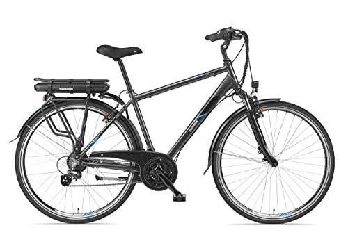 Telefunken E-Bike Herren Elektrofahrrad Alu 28 Zoll mit 21-Gang Shimano Kettenschaltung, Pedelec Trekkingrad mit Hinterrad-Motor 250W 10,4Ah, 36V Akku, XT481 Expedition