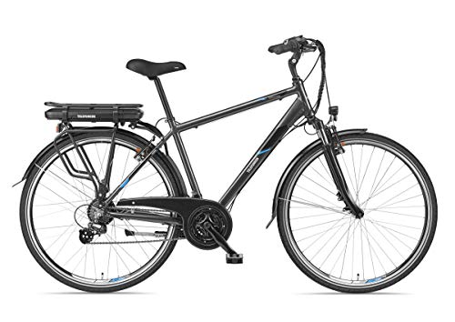 Telefunken E-Bike Herren Elektrofahrrad Alu 28 Zoll mit 21-Gang Shimano Altus Kettenschaltung, Pedelec Trekkingrad mit Hinterrad-Motor 250W 10,4Ah, 36V Akku, XT481 Expedition