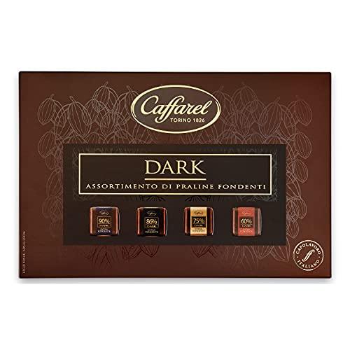 Caffarel Dark Confezione Regalo Cioccolatini, Assortito Degustazione 4 Gusti, Scatola, Cioccolato Fondente, 320 Grammo