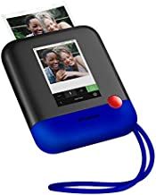 Polaroid Pop Wireless Portable Instant 3x4 Photo Printer & Digital 20MP Camera with Touchscreen Display (Blue) Built-in Wi-Fi, 1080p HD Video
