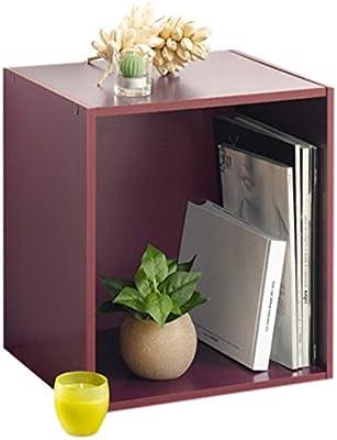Modul'Home 6RAN618NT - Mensola a cubo, in MDF, con 1 Scomparto, 29,5 x 36,5 x 39,5 cm, Pannello MDF, Prugna, HT39,5 x 36,5 x 29,5 cm