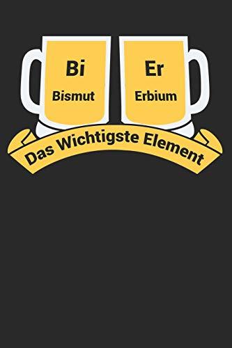Bismut Erbium Das Wichtigste Element: Bismut Erbium: Bi Er: Journal / Notebook/ Gift Dairy Book - ''6