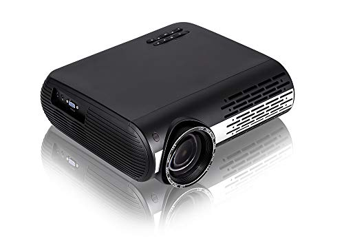 Gzunelic 6500 Lumens LCD LED Video Smart Projector Android OS Bluetooth Built in 2 HI-FI Sound Boxes WiFi 1080P Full HD Theater Proyector with 2 HDMI 2 USB RJ-45 AV VGA Audio Interfaces for Home