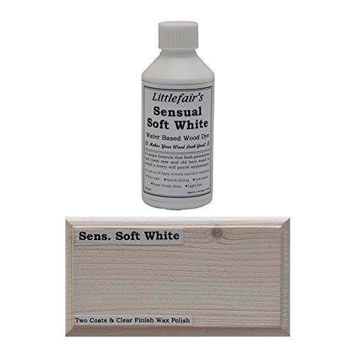 Littlefair's Holzbeize und -farbe auf Wasserbasis, Pastell-Kollektion, weiß