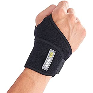 Bracoo WS10 Wrist Support, Versatile Neoprene Wrap, Fully-Adjustable Universal Strap - Relieves Joint Pain, Sprains & Strains, Carpal Tunnel Syndrome, Wrist Tendonitis - Fits Right and Left Hand