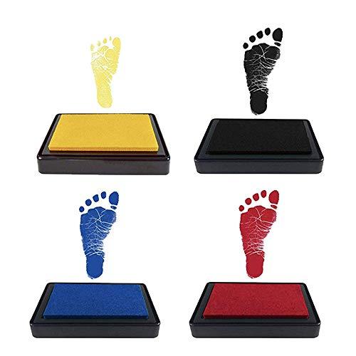 Kit de Almohadilla de Tinta de huellas de mano y pies de Bebé, impresiones de manos y pies bebé,Seguro y fácil de lavar,