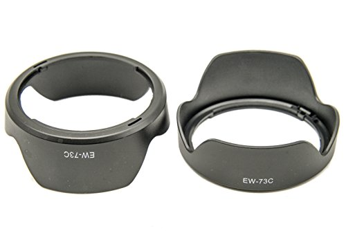 PROtastic reserve zonnekap EW-73C EW73C voor Canon EF-S 10-18 mm f/4,5-5,6 IS STM lens, 2 stuks
