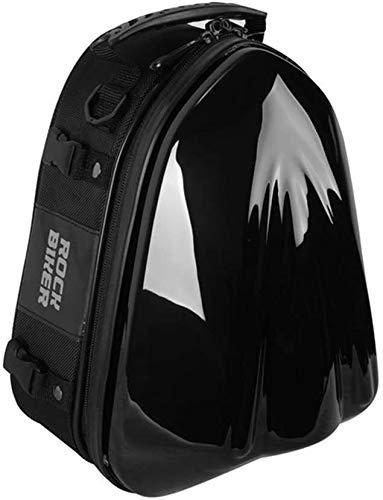 Cola negro de la motocicleta del asiento trasero del bolso bolsas de sillín de alta capacidad a prueba de agua Montar Mochila multifuncional duradero Moto equipaje de la bici bolsa de almacenamiento d
