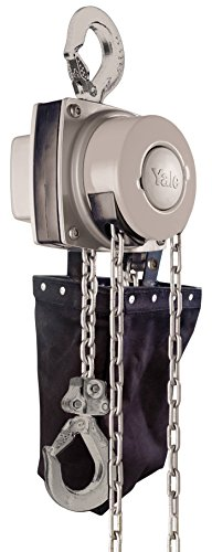Yale amz1021273mano cadena polipasto con cadena contenedor, 360MKIII, descenso único, resistente a la corrosión Acabado, 1000kg, 3m
