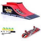 KETIEE Rampes de Skatepark, Skate Park Kit Rampe de Touche avec Mini Finger Skateboard Jouet Cadeau (E)