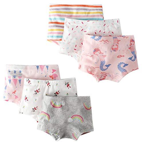 Kidear Unterwäsche für Kinder, Babys, Slip aus Baumwolle, für kleine Mädchen (6 Stück) Gr. 7-8 Jahre, Style7