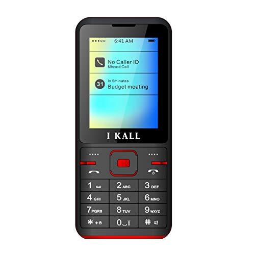 I KALL K37 Premium Dual Sim Keypad Multimedia Feature Phone (2.4 Inch, Red)