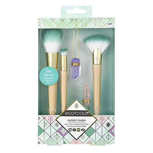 Ecotools Glossy Finish MakeUp Brush Set, Beige/Green (Set of 5)
