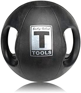 Body-Solid Dual-Grip Medicine Balls 6-16 lbs. and 6-Ball Rack Package