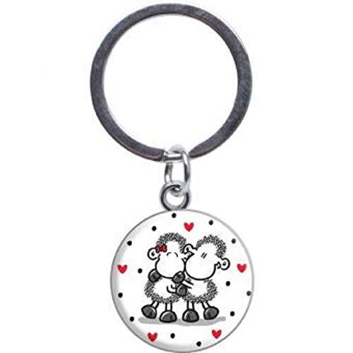 Sheepworld - 46822 - Mini Schlüsselanhänger, Ich Deins - Du Meins, Wir Eins, Metall, Kunststoff, 10cm x 5cm