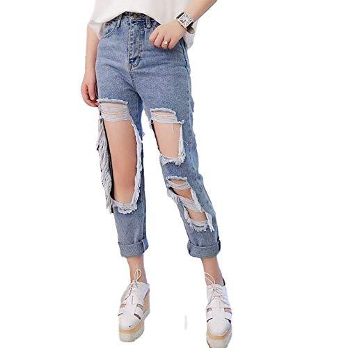 7 8 Vaqueros Pantalones Premama Vaqueros Embarazo Jeans Hose Nuevo Azul Claro Control Ar Com Ar