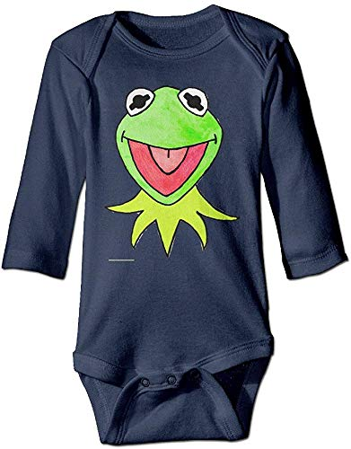 FGRFQ Combinaison Bébé Cartoon Head Muppets Long Sleeve Baby Boys' Bodysuits Baby Gift Navy 100% Cotton