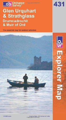 OS Explorer map 431 : Glen Urquhart & Strathglass