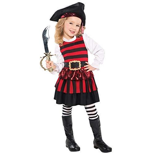 Christy's Piraten-Kostüm für Mädchen, Größe M, Alter 4–6 Jahre