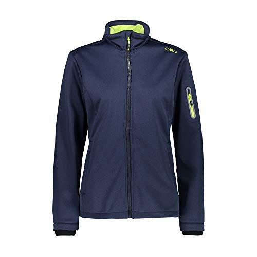 CMP Softshelljacke Jacke Woman Jacket dunkelblau Winddicht wasserdicht meliert (38)